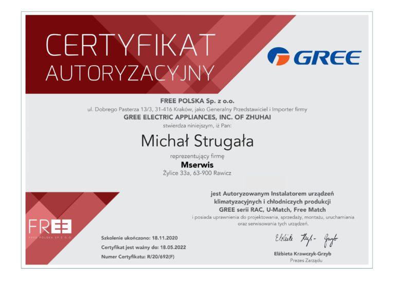 Certyfikat GREE