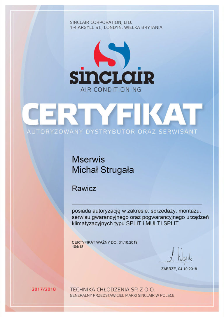 Certyfikat Sinclair