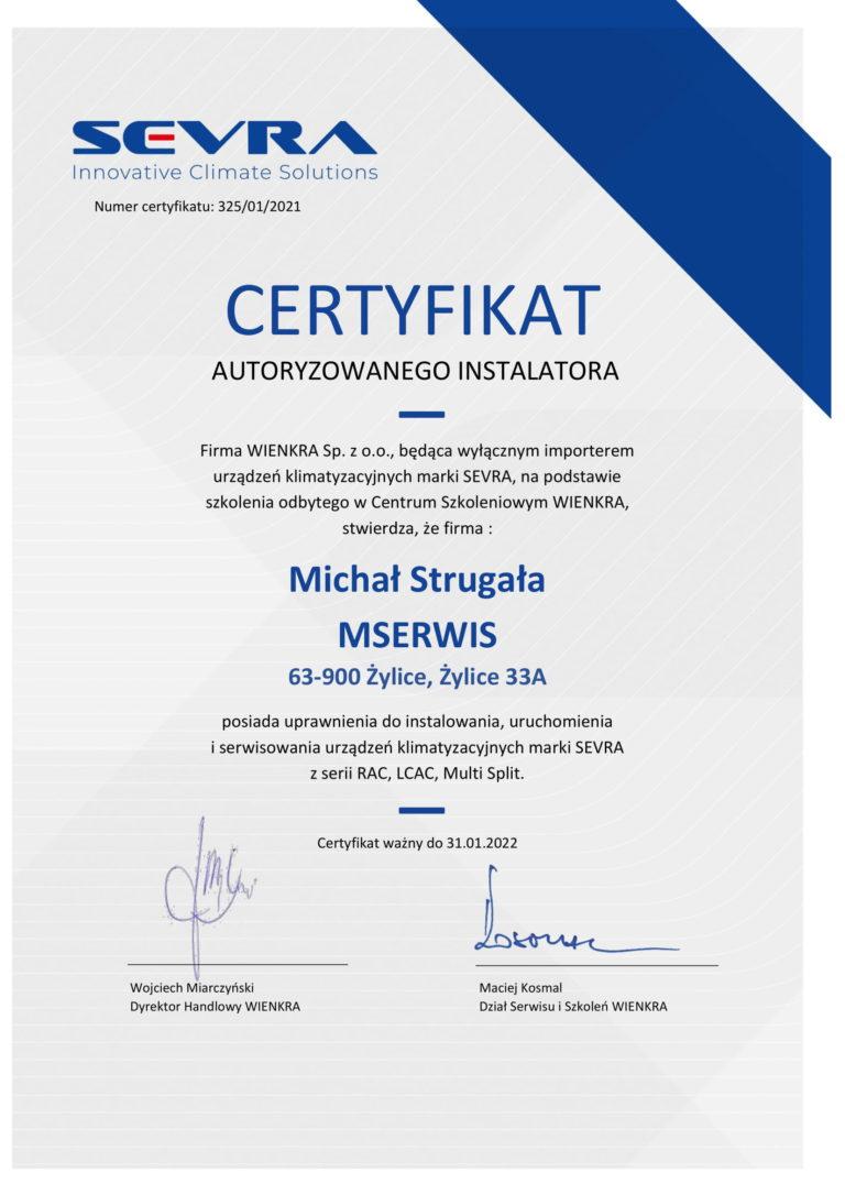 Certyfikat SEVRA